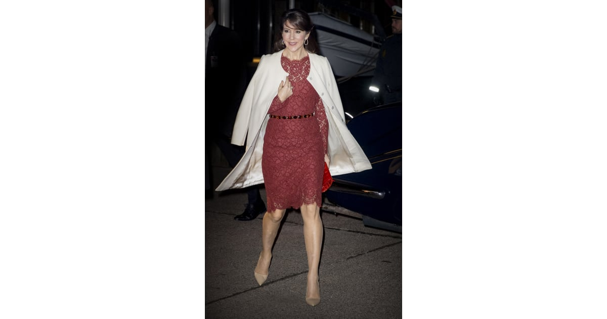 1847169e6808 Princess Mary Belted Her Red Dolce   Gabbana Number at a Concert in Iceland  in January