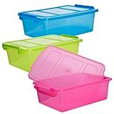 Translucent Plastic Storage Boxes With Clip-Lock Lids ($1 each)
