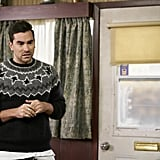 David Rose's Patterned Sweater on Schitt's Creek