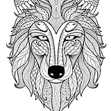 get the coloring page wolf - Free Coloring Pages For Adults