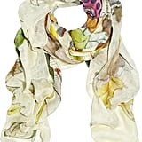 """Swash's statement scarves are the perfect addition to any look – I love the mix of prints and colour."" Swash printed scarf (£260)."