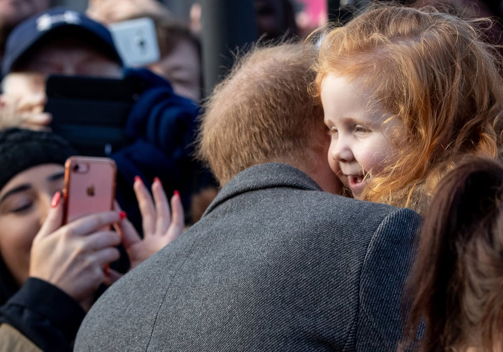 "One of the things we love most about Prince Harry's royal appearances — aside from seeing him with Meghan Markle, of course — is seeing the hilarious homemade signs well-wishers greet him with. During his visit to Birkenhead, England, on Monday, the Duke of Sussex shared an incredibly sweet moment with a 4-year-old girl named Eliza Morris after he caught sight of her ""#GingersUnite"" sign in the crowd. ""I love this,"" Harry told Eliza as he went in for a hug. ""Do you love your hair? The sign is amazing!"" Fun fact: one of Princess Diana's nicknames for Harry used to be ""Ginger."" Aw! Harry and Meghan are getting ready to welcome a child of their own in the Spring. While the royal couple are keeping the baby's sex a surprise, Meghan did reveal she's due sometime in late April. We're so excited for another royal baby!      Related:                                                                                                           This Is the Hospital Meghan Markle Is Considering For Her Delivery"