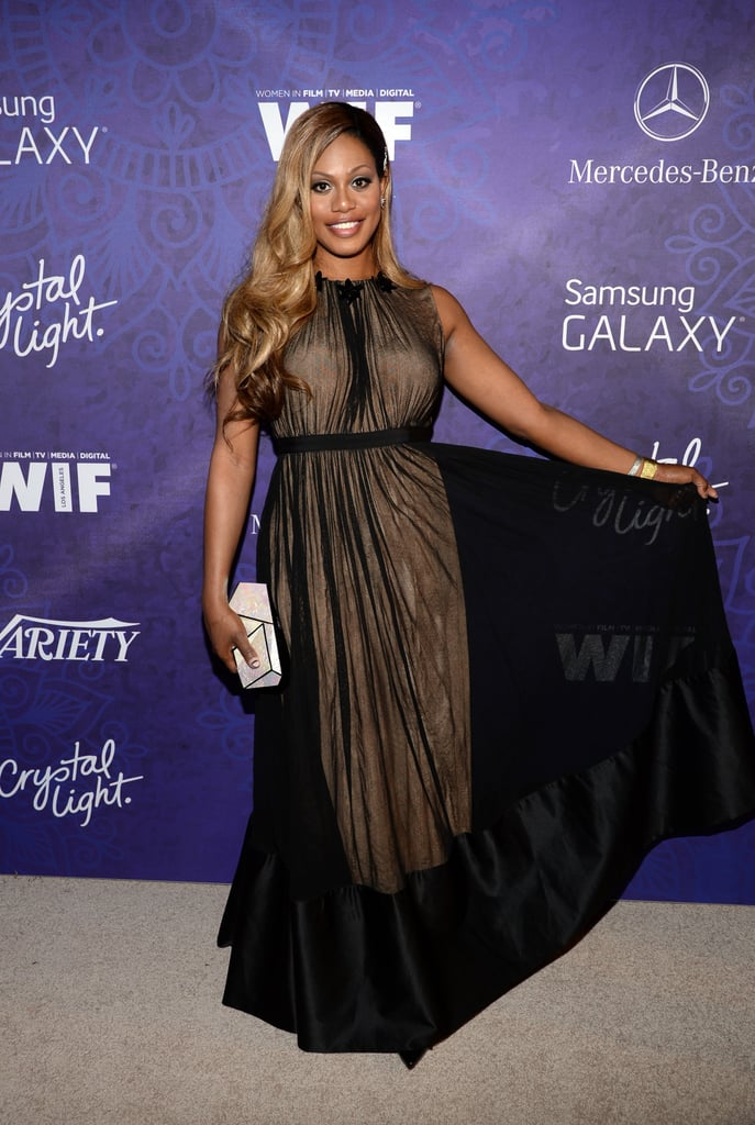 Laverne Cox wore a black number to Variety's party.