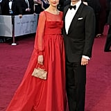 Colin and Livia Firth walked the red carpet together.