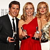 Rebecca Gibney and Jessica Marais with Most Popular New Male Talent Winner, Hugh Sheridan (Packed to the Rafters)