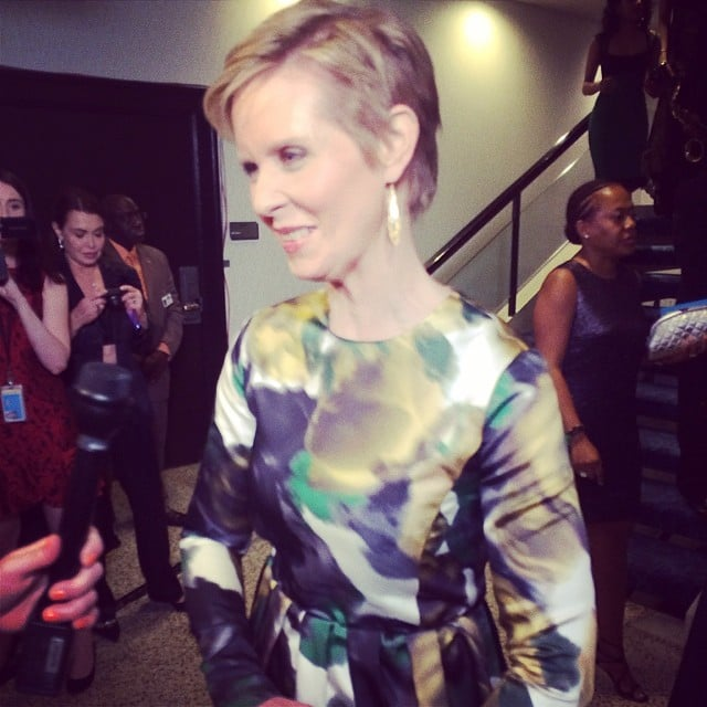 Cynthia Nixon took a moment to chat on Saturday.