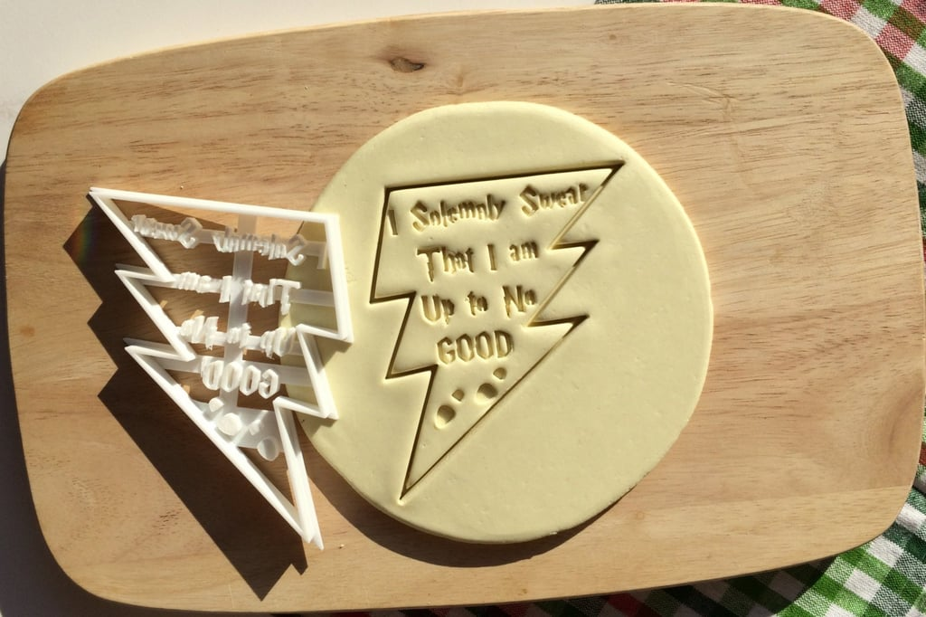 """""""I Solemnly Swear That I Am Up to No Good"""" Cookie Cutter ($6)"""