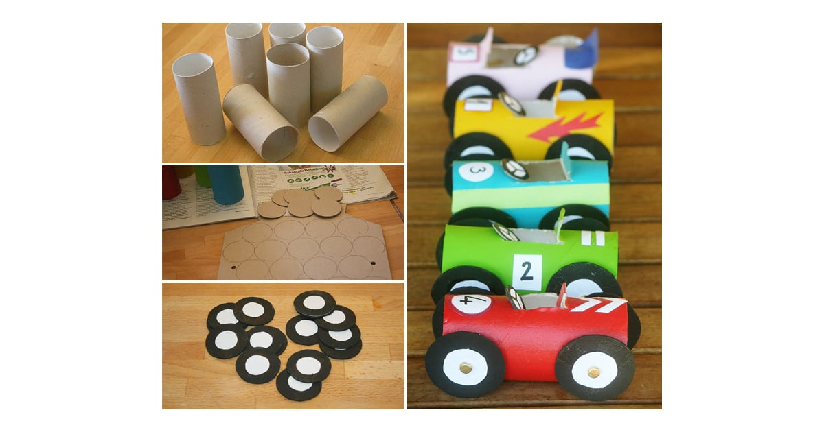 Toilet Paper Tube Race Cars Kids Car Themed Crafts