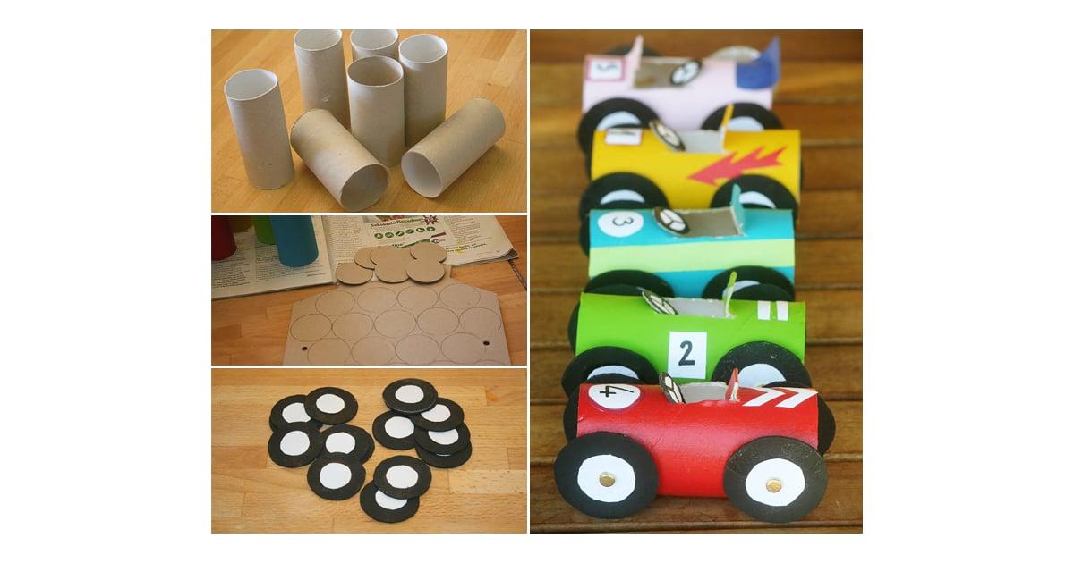 Toilet Paper Tube Race Cars Kids Car Themed Crafts Popsugar Moms Photo 8