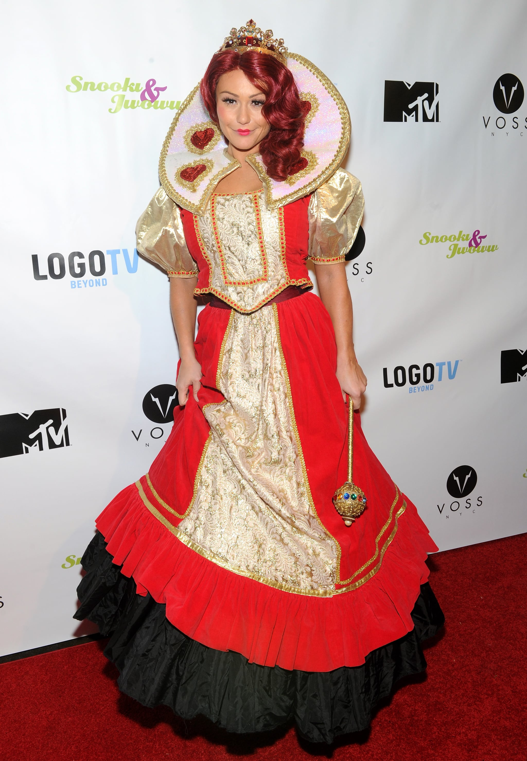 JWoww went all out as the Queen of Hearts at the Night of the Living Drag event she hosted with Snooki.