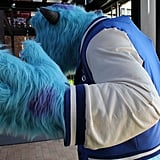 Sulley's jacket was extremely hard to make because of the spikes on his back.