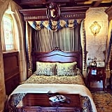 You can walk a mile in Cinderella's glass slipper at her castle suite.