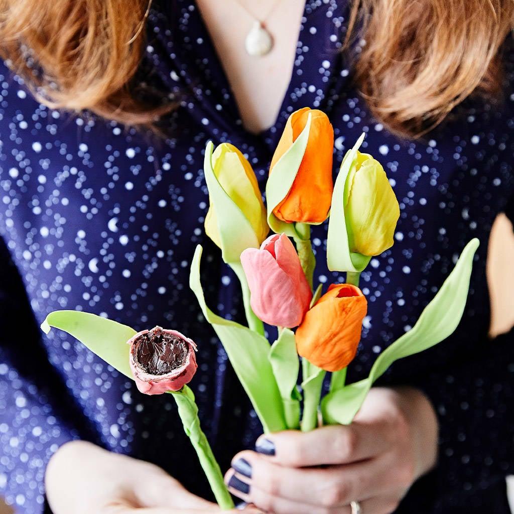 Half A Dozen Letterbox Truffle Tulips