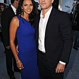 Luciana Damon joined Matt Damon at the LA Elysium premiere.