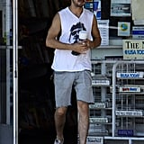 Shia LaBeouf stopped for gas and a coffee.
