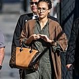 Jessica Alba's Louis Vuitton W Bag March 2017