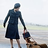 The queen is never far from her beloved Corgis, as pictured here in 1974.