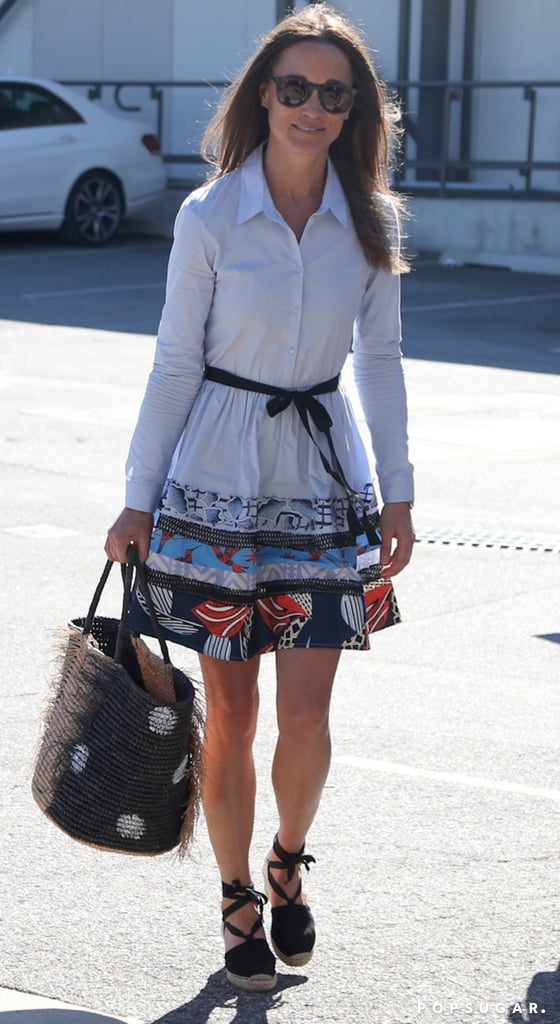 Pippa Middleton Maje Dress at the Airport