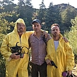 "Jimmy Kimmel tweeted a pic of himself and Breaking Bad's Bryan Cranston and Aaron Paul ""foreshadowing"" his Emmy hosting gig.  Source: Twitter user JimmyKimmel"