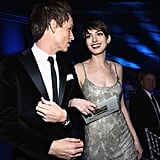 Eddie Redmayne was arm in arm with Anne Hathaway.