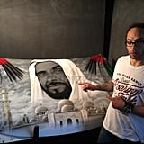Sheikh Zayed Mural Car Bonnet Selling At AED50K on Dubizzle