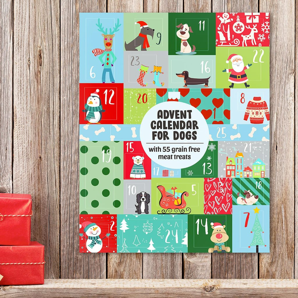 Happy howl-idays! Sam's Club is including our pups in the holiday celebrations this year with its Advent calendar for dogs, which include 55 treats for our furry friends to enjoy in the days leading up to Christmas. Like typical Advent calendars, this one features 24 doors, one for each day of December ahead of Christmas Day, but behind each door is a variety of grain-free, meaty treats, such as duck bites, turkey stars, chicken hamburgers, and a large duck fillet (that's gonna be a good door to open, doggo). Keep reading to see photos of the calendar so you can find it in your local store, or shop it ahead — it's $10 for members and $11 for nonmembers.