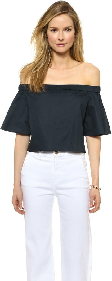 Tibi Off Shoulder Short Sleeve Top ($245)