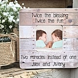 Personalized Twin Photo Frame