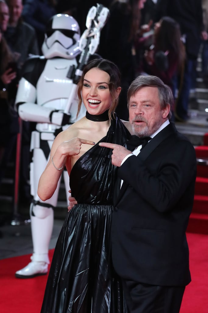Pictured: Daisy Ridley and Mark Hamill.