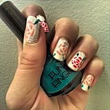This vintage-looking rose manicure is ideal for the warmer months. Source: Instagram user photo_luv