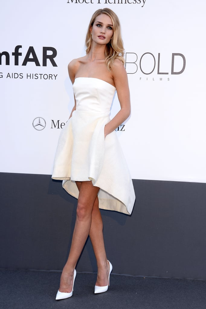 Rosie Huntington-Whiteley wore Dior at amfAR's 20th Annual Cinema Against AIDS gala in Cannes.