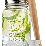 Ehome Mason Jar and Stainless Steel Cocktail Shaker Set