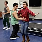 Shania Twain got an assist from one of her backup dancers while rehearsing. Source: Shania Twain on WhoSay