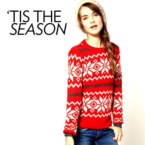 """Attending an """"ugly sweater"""" party? Impress your friends with your updated take on the tacky trend."""