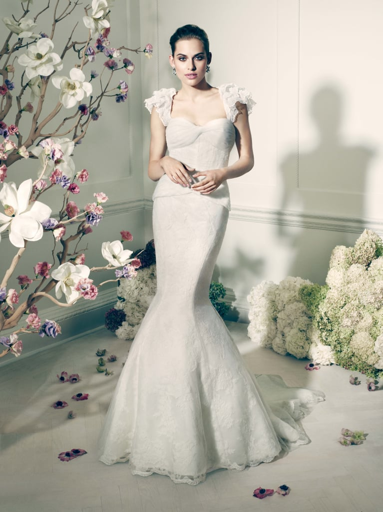 Truly Zac Posen Flutter Sleeve Fit and Flare Gown | Truly Zac Posen ...