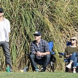 Reese Witherspoon and Jim Toth Meet Up With Ryan at Deacon's Soccer Game