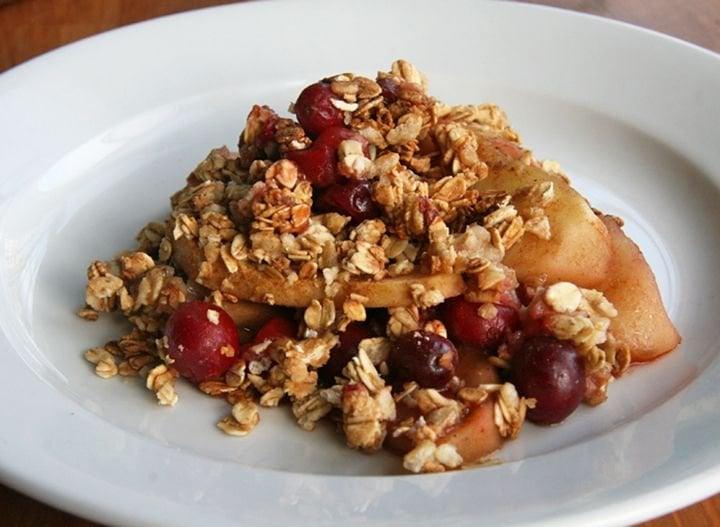 Apple Cranberry Crisp | Healthy Vegan Thanksgiving Recipes ...