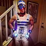 Glee's Chris Colfer did a sexy R2-D2 look for Halloween. Source: Instagram user hrhchriscolfer