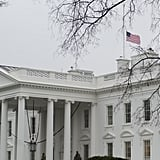 The American flag flew at half mast following Nelson Mandela's passing.