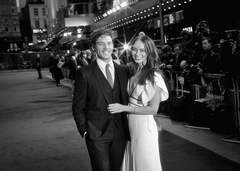 Sam Claflin and Laura Haddock at the London Film Festival