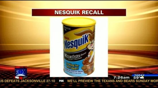 Nestle Nesquik Recalled Across United States