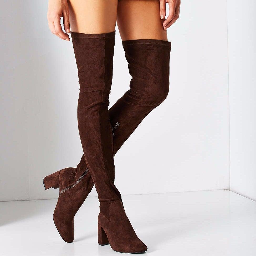 1debaa330e8 Truffle Collection Over The Knee Denim Boot ( 106)