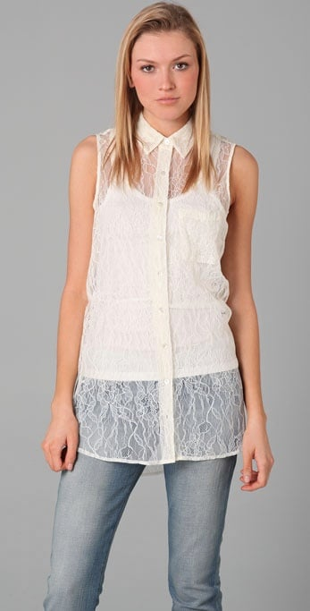 Equipment Adrien Lace Blouse ($188)