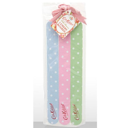 Cath Kidston 3 Spotty Emery Boards (approx $8.15)