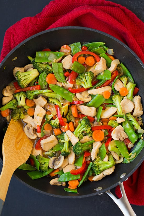 Chicken and vegetable stir fry healthy chinese food recipes chicken and vegetable stir fry forumfinder Gallery