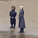Next up, Peter Dinklage as Tyrion Lannister and Emilia Clarke as Daenerys Targaryen.