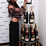 Vanessa Hudgens with Moet & Chandon.