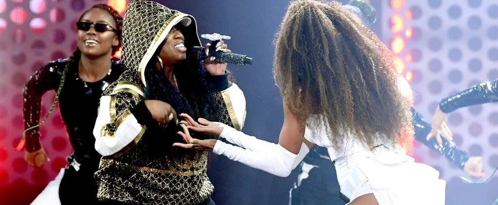 Mary Halsey Cheers on Missy Elliott at American Music Awards
