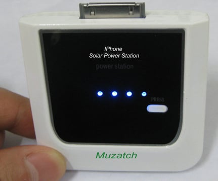 Solar iPhone Charger From Muzatch