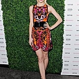 Jaime King showed off some leg — and her penchant for bold prints — in head-to-toe Alexander McQueen at the Vanity Fair Vanities Calendar party.